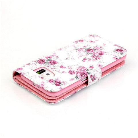 9 Cards  Flower wallet standard case for Samsung S5/S6/S6 edge - CELLRIZON  - 6