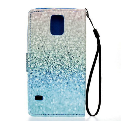 Green Sand 2 Cards Slot Case For Samsung Galaxy S5 - CELLRIZON