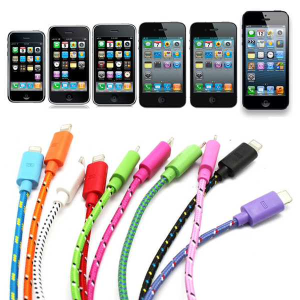 Multi type ChargeSync Braided Cable for iPhone and iPad - CELLRIZON  - 1