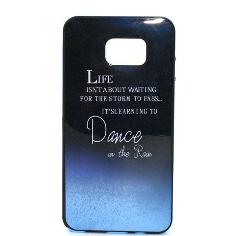 Dark Blue Letters Phone Case Plus Border For Samsung Galaxy Note 5 - CELLRIZON