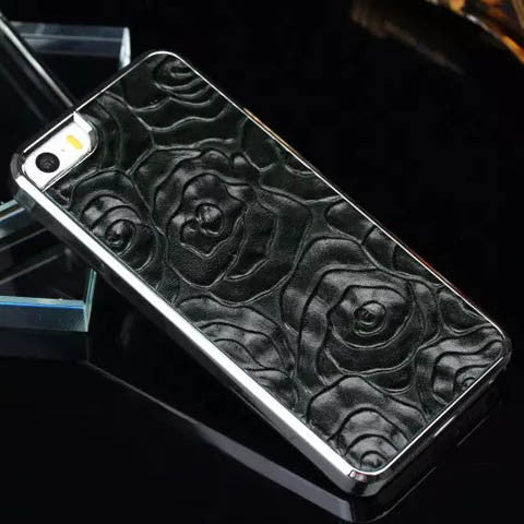 Vintage Rose Leather Case Cover For Iphone 5s - CELLRIZON