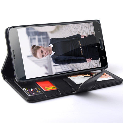 PU Stand Leather Case for Samsung S5 - CELLRIZON