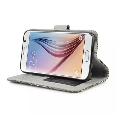 Snake Leather Stand Case for Samsung S6 - CELLRIZON