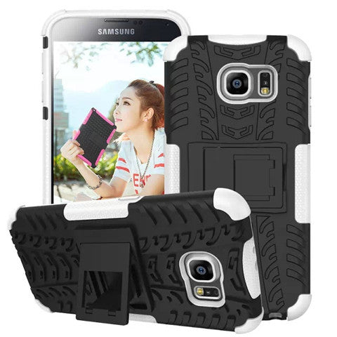 Hybrid Stand Hard Case for Samsung S6 Back Cover - CELLRIZON