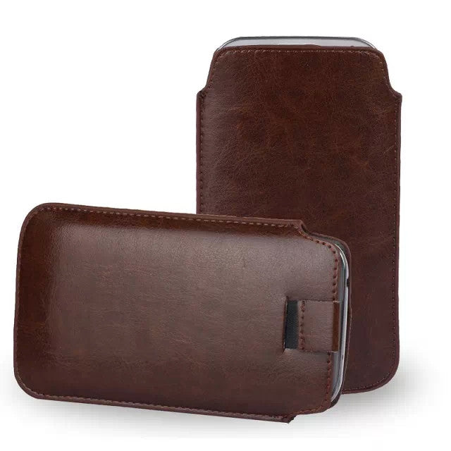 Leather Pouch Case for Samsung S6 - CELLRIZON