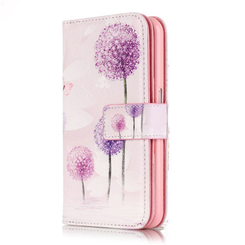 9 Cards Purple Dandelion Clear Case for Samsung S7/S7 edge - CELLRIZON  - 4