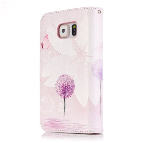 9 Cards Purple Dandelion Clear Case for Samsung S7/S7 edge - CELLRIZON  - 5