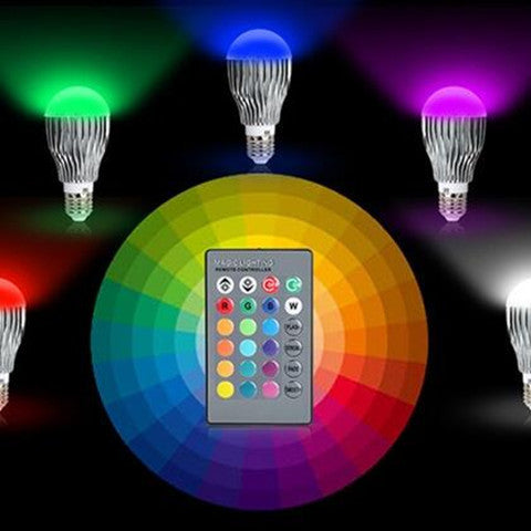 Magic Color Changing LED Light Bulb with Remote Control - CELLRIZON