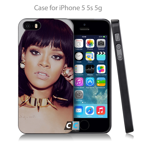 Rihanna Pop Music Sexy Celebrity Hard Black Case Cover For IPhone - CELLRIZON