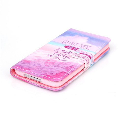 Pink Stand Leather Case For Samsung S5 - CELLRIZON