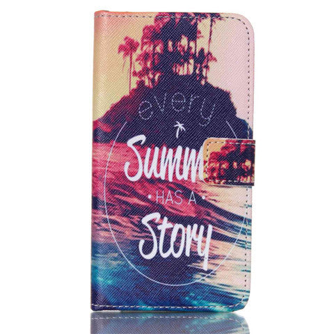 Story Stand Leather Case For Samsung S5 - CELLRIZON