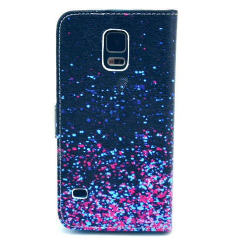 Star Stand Leather Case For Samsung S5 - CELLRIZON