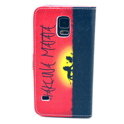 The setting sun Stand Leather Case For Samsung S5 - CELLRIZON