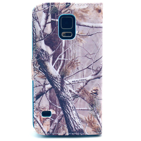 Branch Stand Artificial Leather Case for Samsung S5 - CELLRIZON