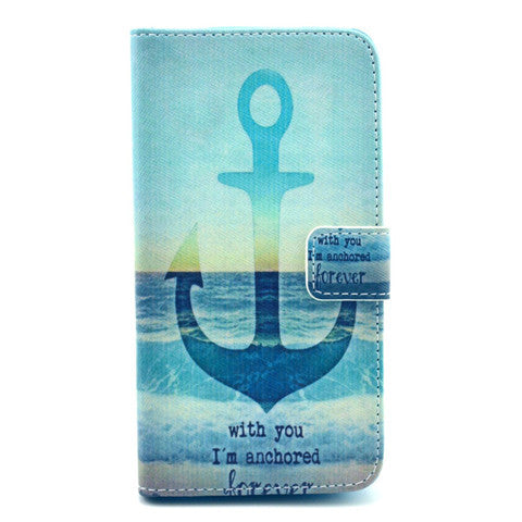 The anchor of the sea Stand Leather Case For Samsung S5 - CELLRIZON