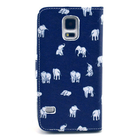 The Indian elephant Stand Leather Case For Samsung S5 - CELLRIZON