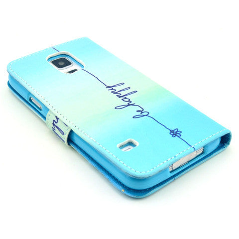 Happy Stand Leather Case For Samsung S5 - CELLRIZON