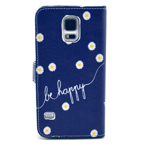 Chrysanthemum Stand synthetic Leather Case for Samsung S5 - CELLRIZON