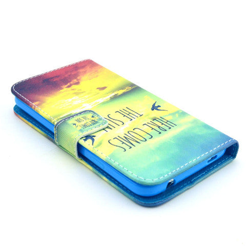 Sunrise Stand Leather Case For Samsung S5 - CELLRIZON