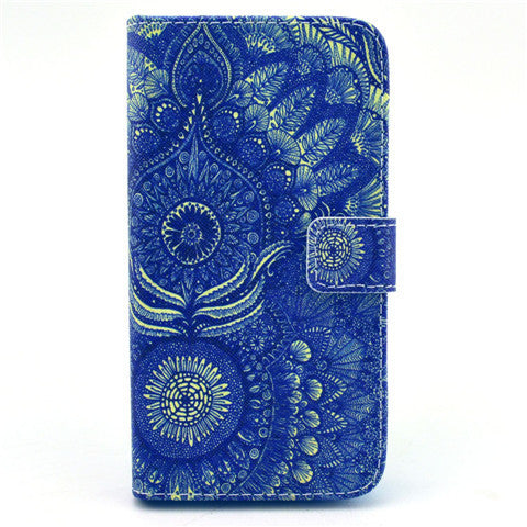 Sunflower glasses Stand Leather Case For Samsung S5 - CELLRIZON