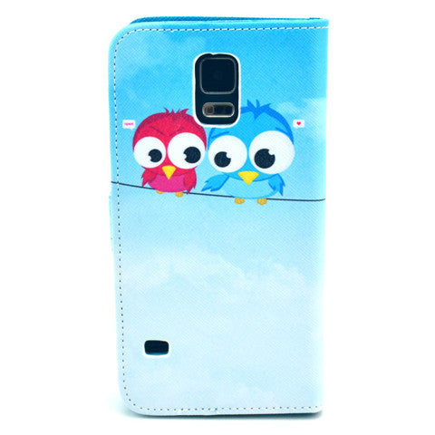 Cat Lovers Stand synthetic Leather Case for Samsung S5 - CELLRIZON