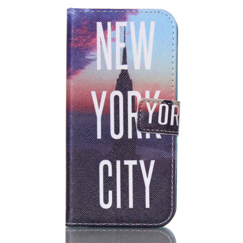 New York Stand Leather Case For Samsung S6 Edge - CELLRIZON
