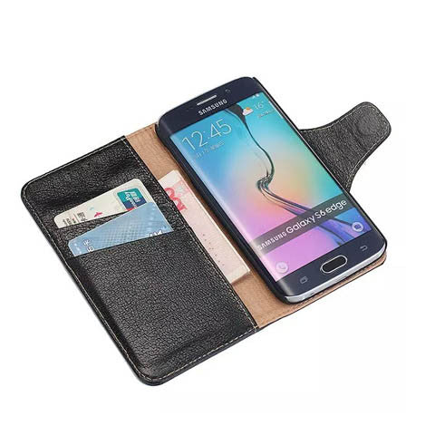 Yak Leather Wallet Case For Samsung Galaxy S6 edge - CELLRIZON