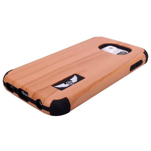 Robot Wood Shell Case For Samsung Galaxy S6 - CELLRIZON