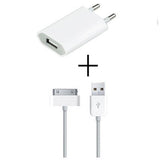 usb wall charger adapter + free 30 pin data cable - CELLRIZON