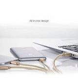 Three In One  Weave USB Charge Cables For Iphone & Android - CELLRIZON