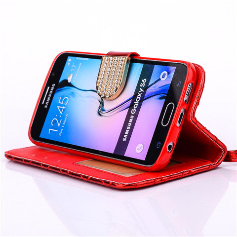 Lambskin Wallet Standard Case For Samsung Galaxy S6 - CELLRIZON