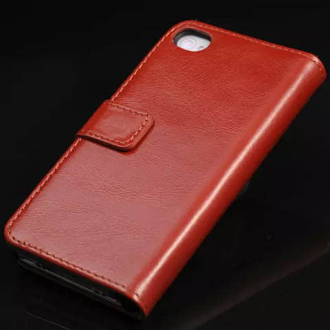 Oil Wax Genuine Leather Case For Iphone 5s - CELLRIZON