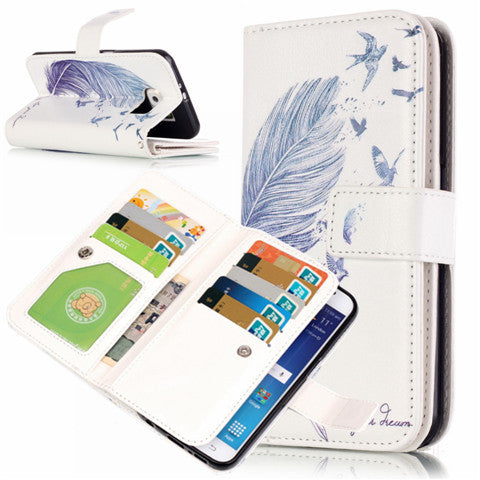 9 Cards Feathers Fly Wallet Standard Case for Samsung S7/S7 edge - CELLRIZON  - 3