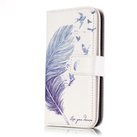 9 Cards Feathers Fly Wallet Standard Case for Samsung S7/S7 edge - CELLRIZON  - 4