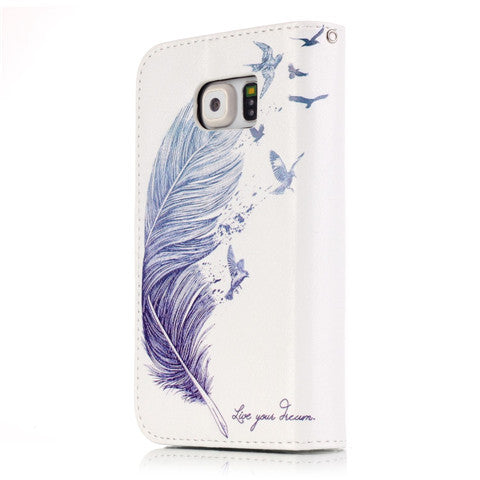 9 Cards Feathers Fly Wallet Standard Case for Samsung S7/S7 edge - CELLRIZON  - 5