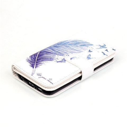 9 Cards Feathers Fly Wallet Standard Case for Samsung S7/S7 edge - CELLRIZON  - 6