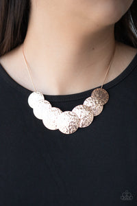 RADIAL Waves - Rose Gold Necklace