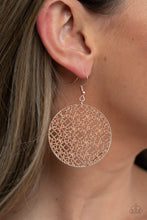 Load image into Gallery viewer, Metallic Mosaic - Rose Gold Earrings