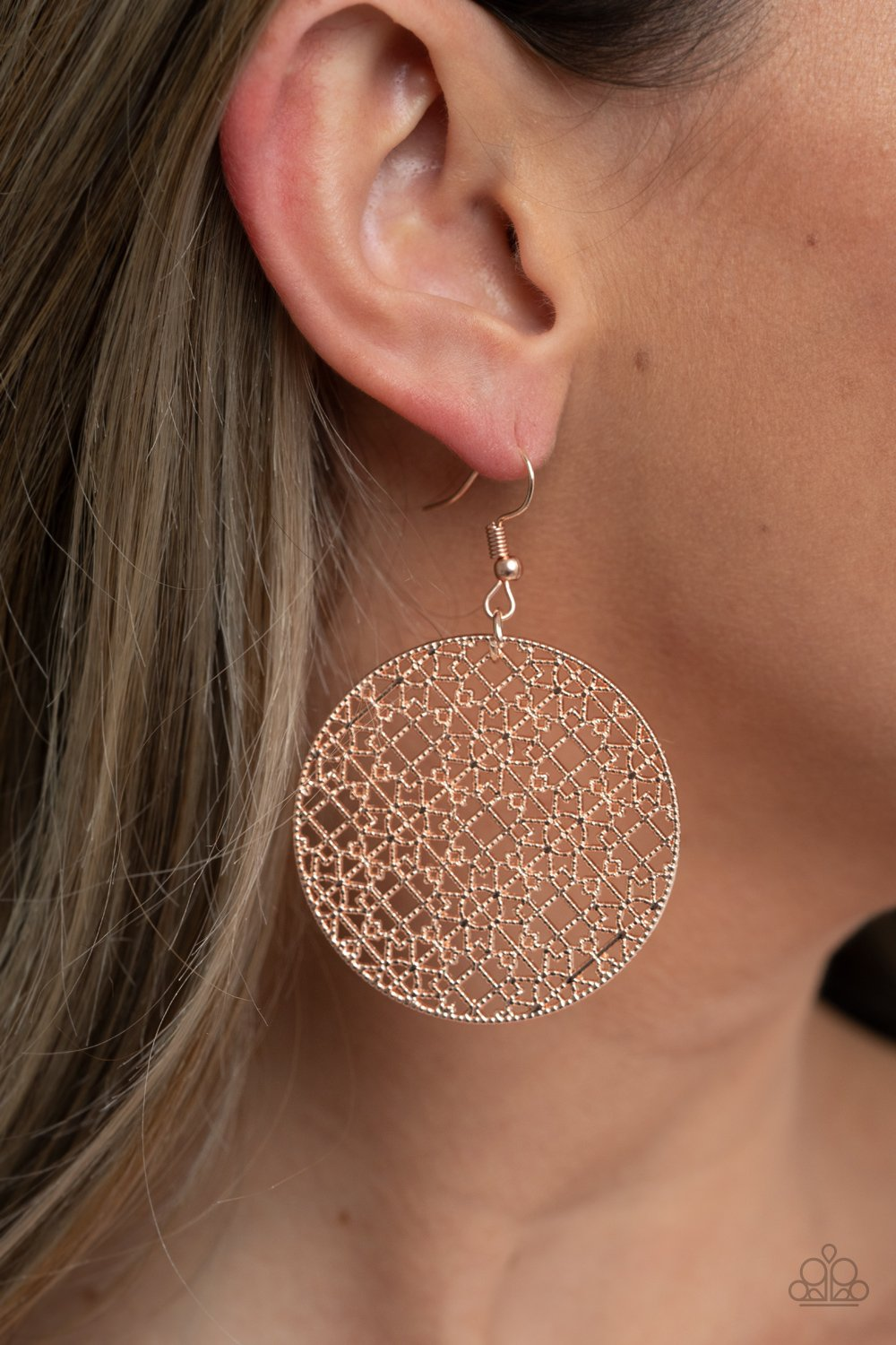 Metallic Mosaic - Rose Gold Earrings