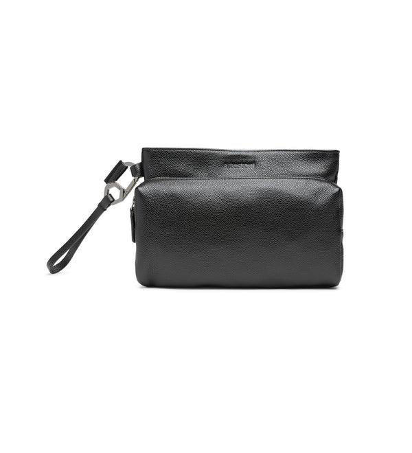 CORTONA HAMMERED LEATHER CLUTCH BAG (MEN)