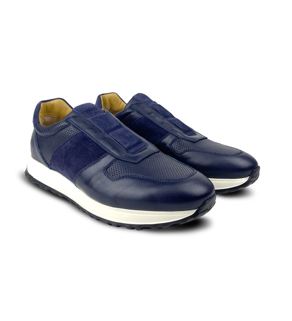 CUNEO PERFORATED LEATHER SNEAKERS (MEN)