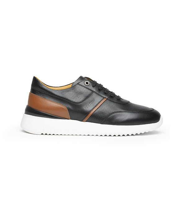 BURANO LEATHER CHUNKY SNEAKERS (MEN)