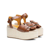 KATE LEATHER WEDGE SANDALS (WOMEN)