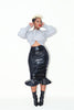 Latex Pencil Skirt