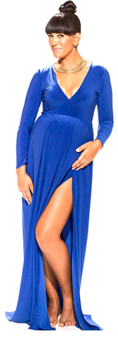 THE DANI SLIT MATERNITY DRESS