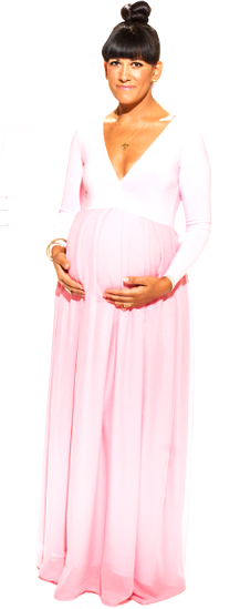 THE CANDY COUTURE MATERNITY DRESS
