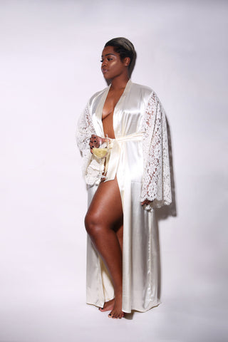 Chantilly Lace Luxury Robe