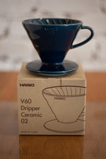 Load image into Gallery viewer, V60 Ceramic Dripper - Indigo Blue