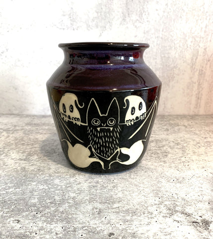 Bat & Ghosts Vase