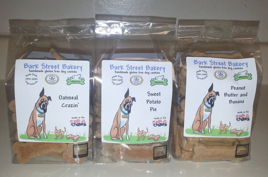 * Set of 3 Flavors Gluten-Free Organic Dog Cookies *